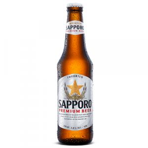 Sapporo Premium Draft Beer Bottle 330ml